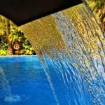 water flowing into pool
