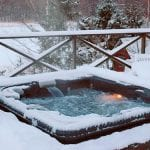 hot tub in winter