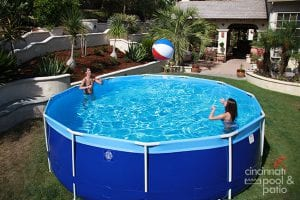 above-ground pool