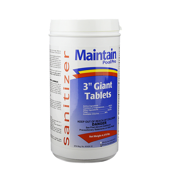 """Maintain Pool Pro 3"""" Giant Tri-Chlor Tablets"""