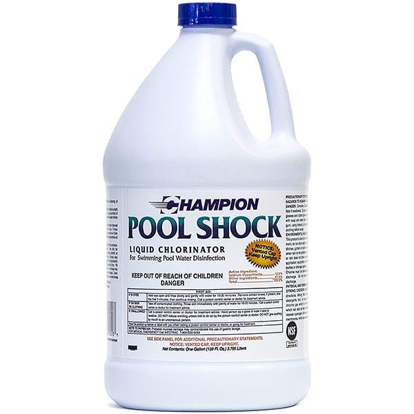 Champion Pool Shock Liquid (Sodium Hypochlorite) - 4gal