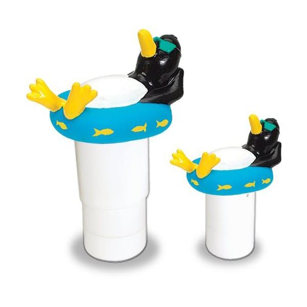 Swimline HydroTools Floating Penguin Chlorine Tablet Dispenser