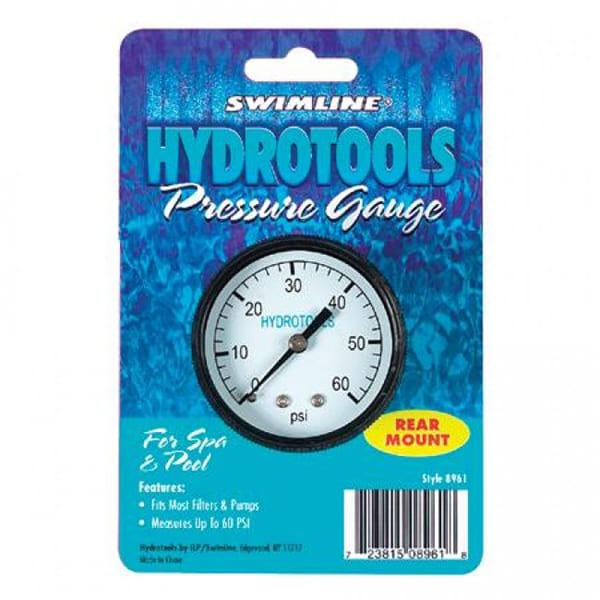 Swimline Hydrotools Pressure Gauge (Rear Mount)