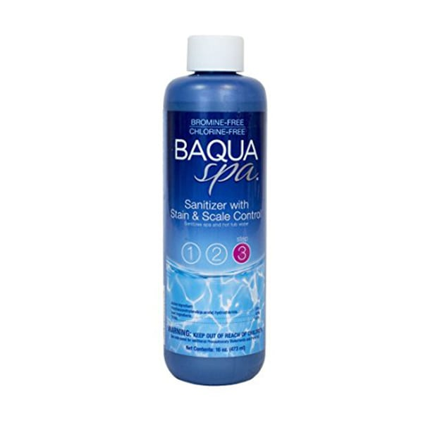 BAQUASPA Sanitizer with Stain & Scale Control - 16 Fl. Oz.