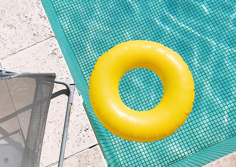 Flotation Device in Pool for Pool Opening